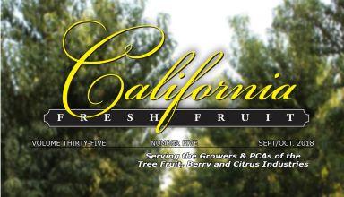California Fresh Fruit Magazine September 2018 Issue